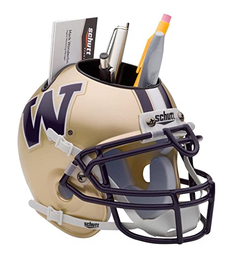 6f2bc9ad04b Amazon.com   NCAA Washington Huskies Mini Helmet Desk Caddy   Sports ...