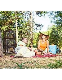 Wealers - Red de almacenamiento y almacenamiento de alimentos para exteriores, 3 niveles, para camping, barbacoa, picnic, protección de comida, organizador   repele insectos y insectos   más rápido para hierbas, ropa, platos de secado   plegable