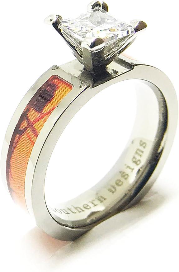 Amazon Com Southern Designs Orange Camouflage Engagement Wedding