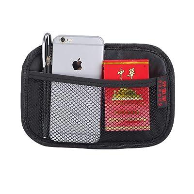 "Car Storage Organizer, Net Bag Mesh Pocket Organizer, Universal Car String Bag Car Seat Side Storage, 7.9 X 5.5"" Net Bag Mesh Pocket Organizer Stick-on for Purse Bag Phone: Home Improvement"