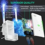 [NEWEST 2018] WiFI Extender with WPS Internet Signal Booster - Wireless Repeater 2.4GHz Band Up to 300 Mbps - Best Range Network/Compatible with Alexa/Extends WiFi to Smart Home & Alexa Devices
