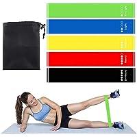 CGGA 5 unids/set bandas de resistencia con 5 diferentes niveles de resistencia bandas de yoga en casa gimnasio ejercicio…