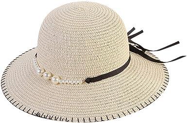 Beach Foldable Girls Sun Hat Wide Large Brim Bowknot Straw Cap Panama Hat