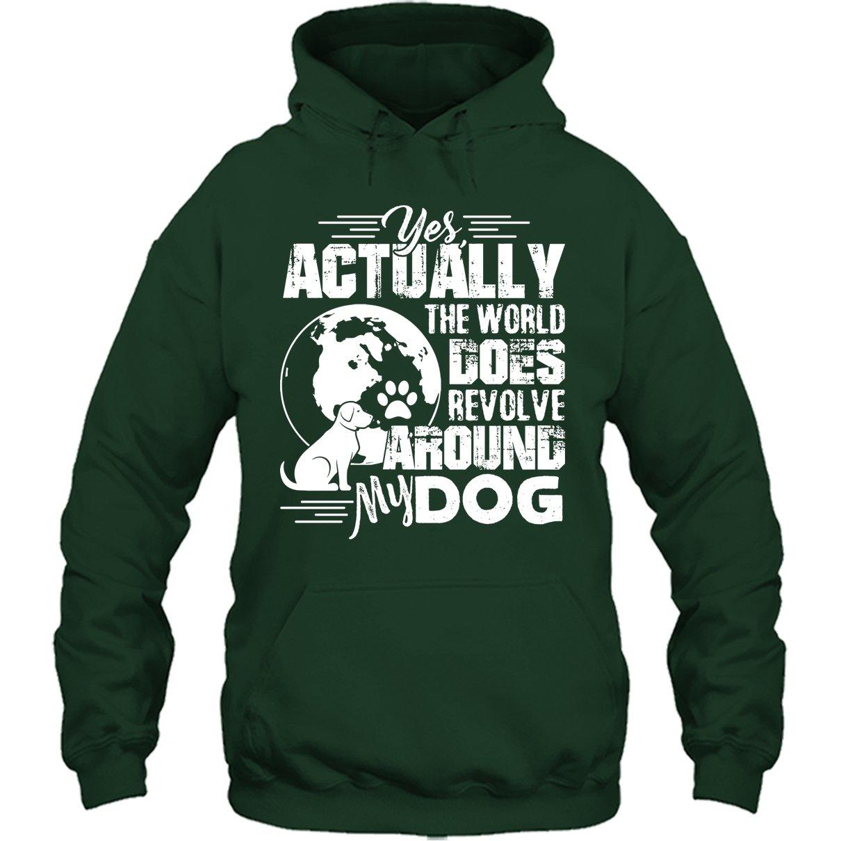 The World Revolve Around My Dog Tee Shirt Design for Men and Women Dog Cool Tshirt