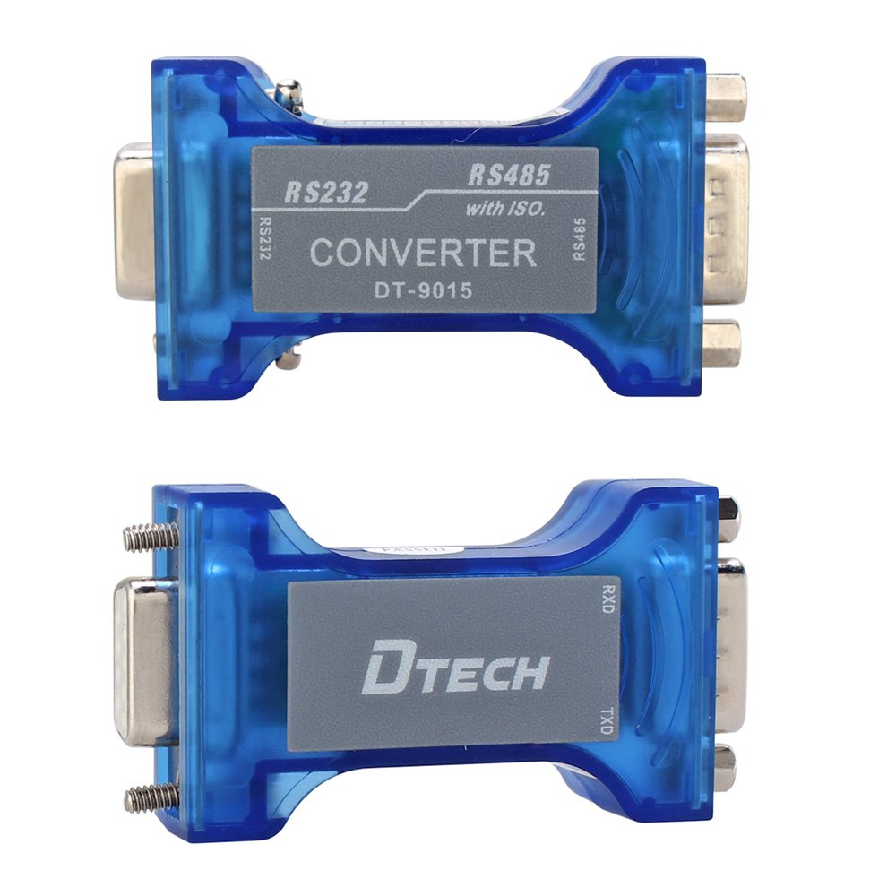DTech Industrial Grade Port-Powered RS232 to RS485 Converter Adapter Optical Isolation Protector with TX//RX LED Lights for Industrial Long Haul Serial Communication