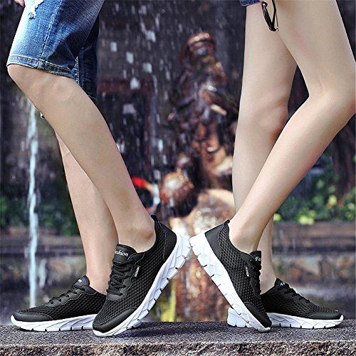 JIASUQI Mode Sommer Paar Breathable Beiläufige Skate Schuhe Sport Wandern Turnschuhe Für Männer und Jungen Schwarz