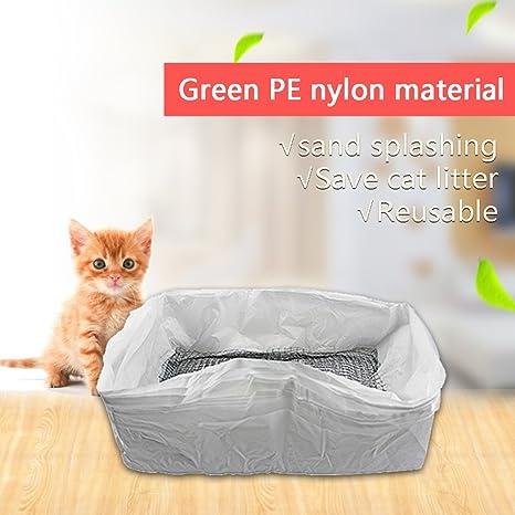 Zanteca - 1 paquete de 10 bolsas de arena higiénicas para gatos reutilizables
