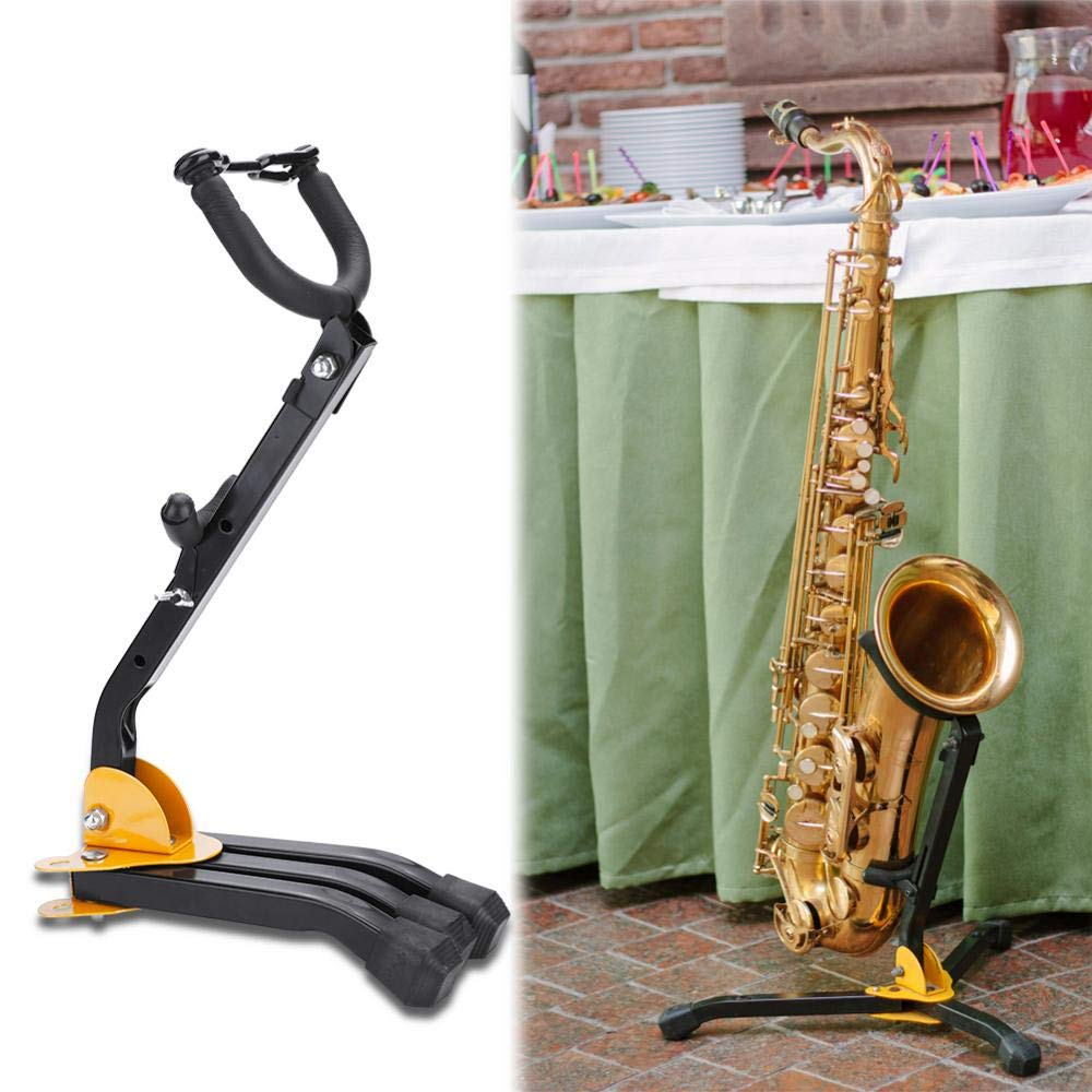 Soporte para saxof/ón soporte para saxof/ón tenor tr/ípode soporte sax plegable soporte para saxof/ón soporte curvo para saxof/ón alto//tenor
