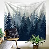 """Forest Tapestry Wall Hanging Art Fabric Wallpaper Home Décor, Age Dorm Tapestry 51""""L x 59""""W by ZHH"""
