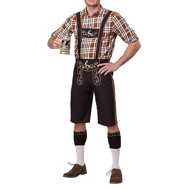 ACHICOO - Disfraces tradicionales de cuadros para hombre (incluye ...