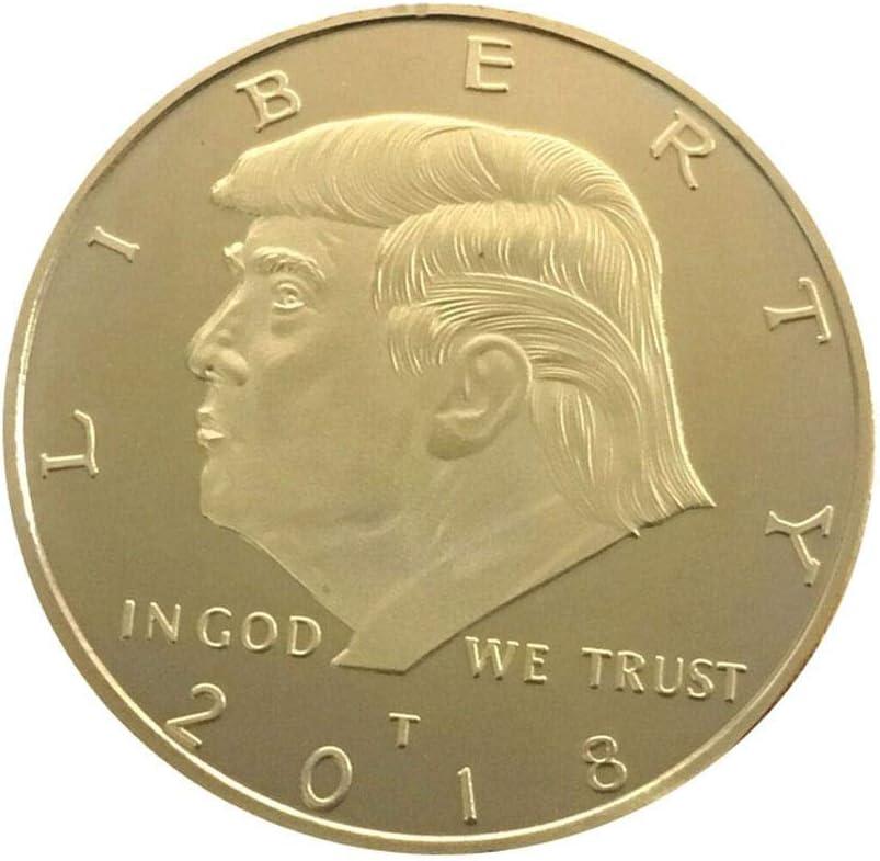 Monedas de Euro de moneda conmemorativa, aniversario años American Eagle IGLH0159 Trump Emboss Moneda conmemorativa coleccionar regalo & coleccionistas monedas: Amazon.es: Bricolaje y herramientas