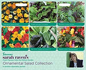 Sarah Raven Kitchen Garden-ORNAMENTAL SALAD COLLECTION