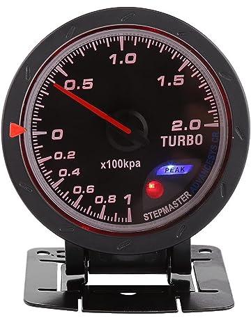 60m m LED Turbo Gauge medidor de impulso, auto aumento de presión de vacío Shell