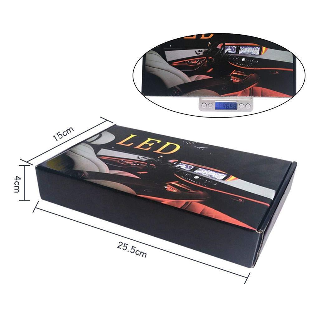 fibra /óptica RGB, control remoto o aplicaci/ón LoveAir Luz ambiental para interior de coche