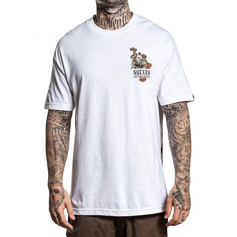e1d62a63a Amazon.com: Sullen Men's All Wrong T Shirt White: Clothing