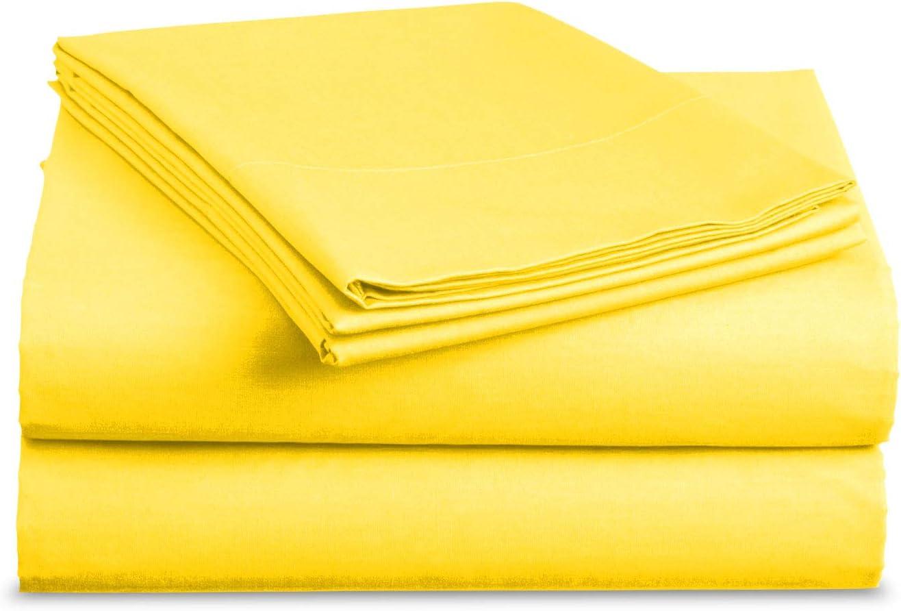 Basic Choice Yellow Brushed Microfiber Bed Sheet