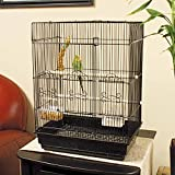 You&Me Square Top Parakeet Cage, 16.5'' L X 11.8'' W X 22'' H