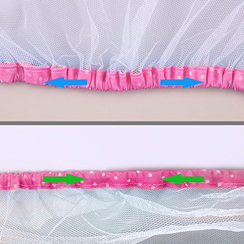 Topwon Universal Full Cover Baby Mosquito Net/Insect Mesh Netting Fits Most Strollers Bassinets, Cradles Chair seat and Car Seats Safe Elastic Design - Pink by Topwon (Image #3)