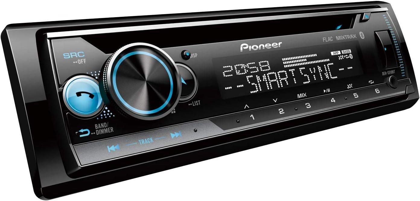 Pioneer DEH-S510BT Autorradio, Negro, Única