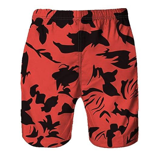 9c19eab91f Amazon.com: ZhixiaYS Men Sports Running Fitness Shorts Quick Dry Boxers  Pool Flower Pattern Summer Beach Shorts Pant: Clothing