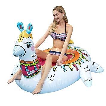 WYJHNL Llama Hinchable, Colchoneta Flotador Alpaca con Asas ...