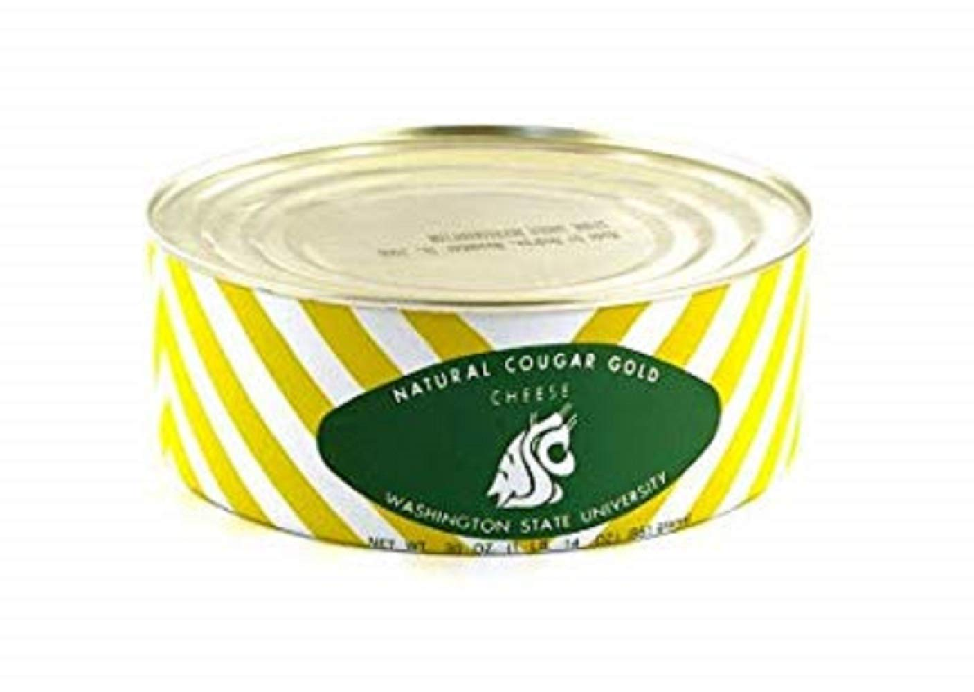 WSU Creamery Wazzu Cougar Gold Sharp White Cheddar Cheese (30oz Can) (1-Can Pack) by Washington State University (Image #1)