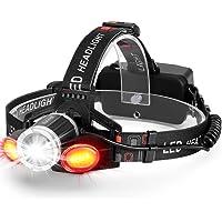 Akale LED Headlamp Rechargeable Super Bright Headlight (Black)