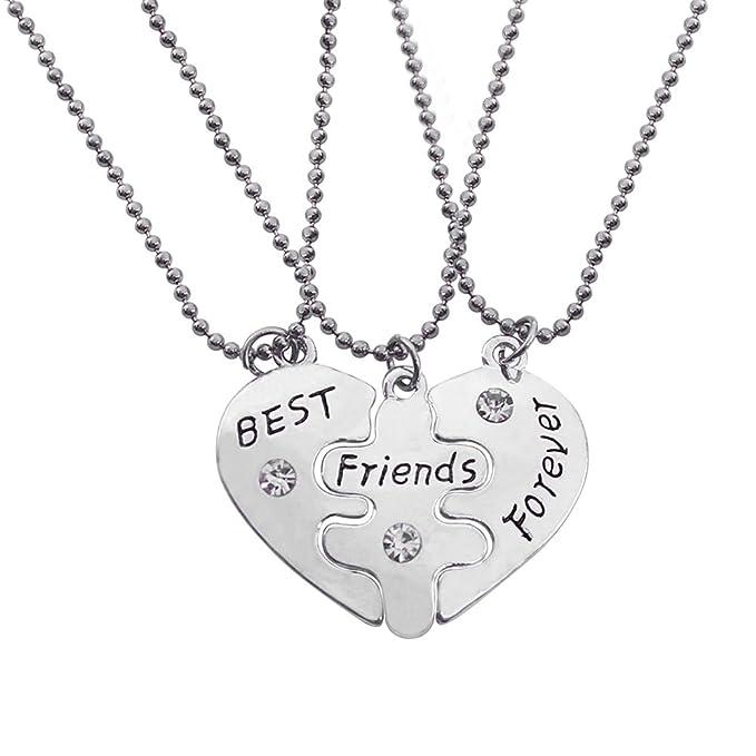1 opinioni per SwirlColor 3Pcs / Confezione iniziali Best Friends Forever Puzzle collana