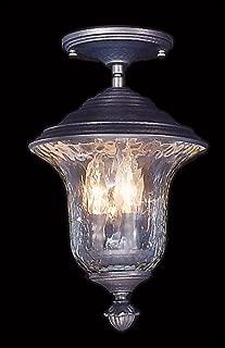product image for Framburg 8321 Iron 3-Light Carcassonne Exterior Ceiling Mount, Iron