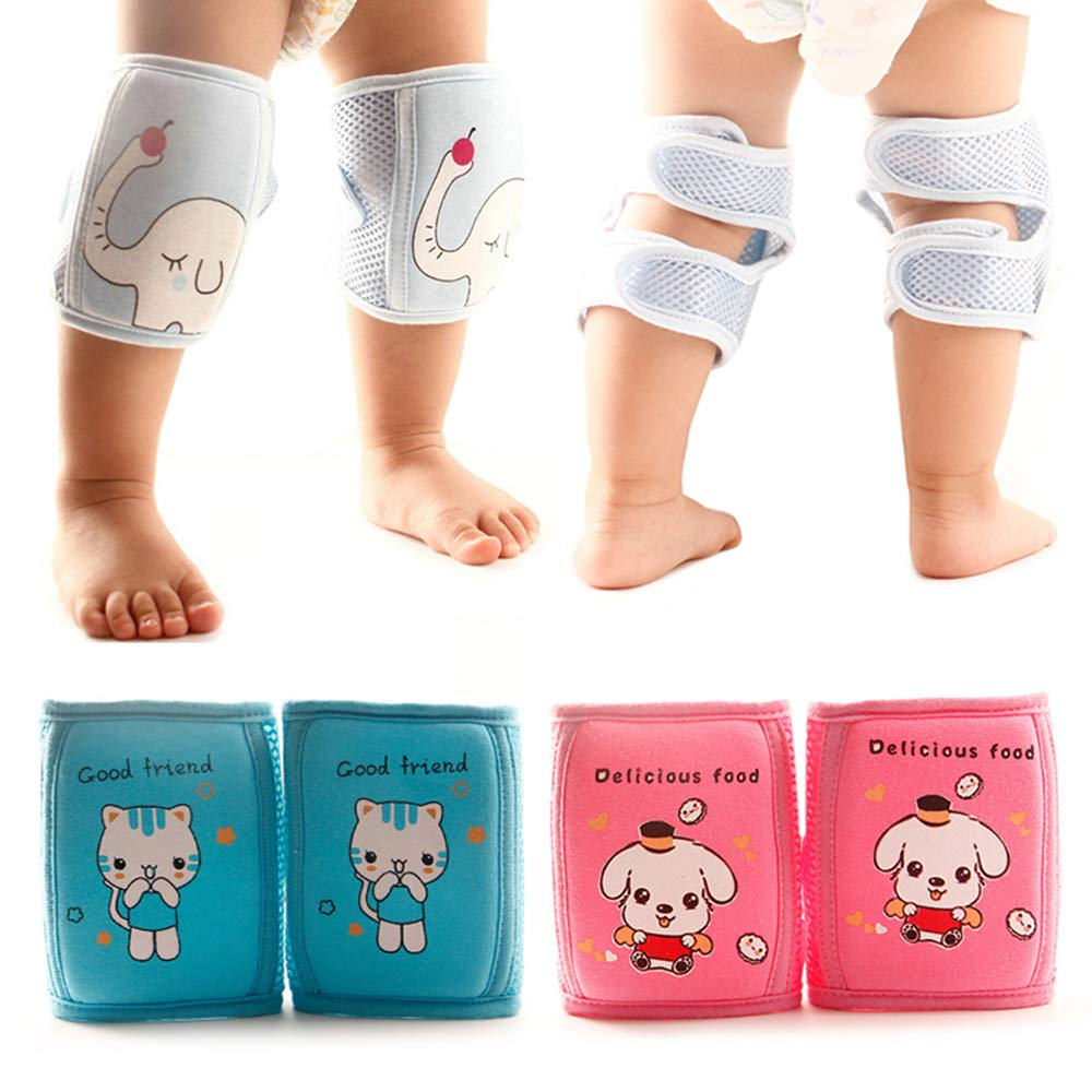XINJIA Baby Knee Pads for Crawling Breathable Adjustable,Baby Knee Pad Anti-fall Toddler Motion Crawl Knee Pad