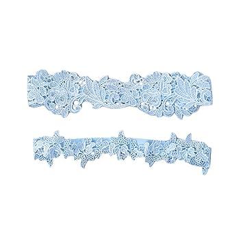 best sneakers 2b90a b3ae5 Amosfun Hochzeit Braut Strumpfband Lace Flower Bridal ...