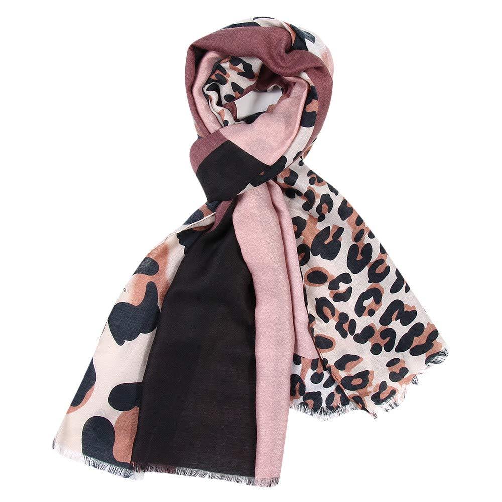 Cinnamou/_mujer Bufandas y Pa/ñuelos de Mujer Estampado Leopardo Mujeres caliente Mantas Cozy Pashmina Bufanda Larga