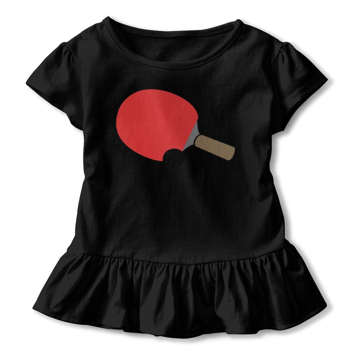 Britain American Heart Flags Baby Girls Short Sleeve Ruffles T-Shirt Tops 2-Pack Cotton Tee