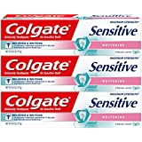 Colgate Sensitive Maximum Strength Whitening Toothpaste, Mint Gel - 6 ounce (3 Count)