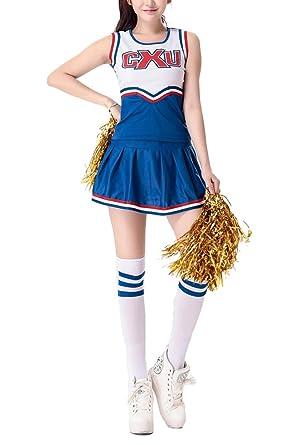 Avide Womens Musical Cheerleader Fancy Dress Costume Uniform  sc 1 st  Amazon.com & Amazon.com: Avide Womens Musical Cheerleader Fancy Dress Costume ...