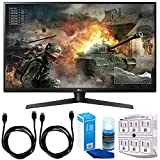 LG 32GK850G-B 32' Class QHD Gaming Monitor with G-SYNC (2018 Model) w/Accessories Bundle Includes, 2 x 6ft. HDMI Cable, SurgePro 6-Outlet Surge Adapter with Night Light & Screen Cleaner For LED TVs