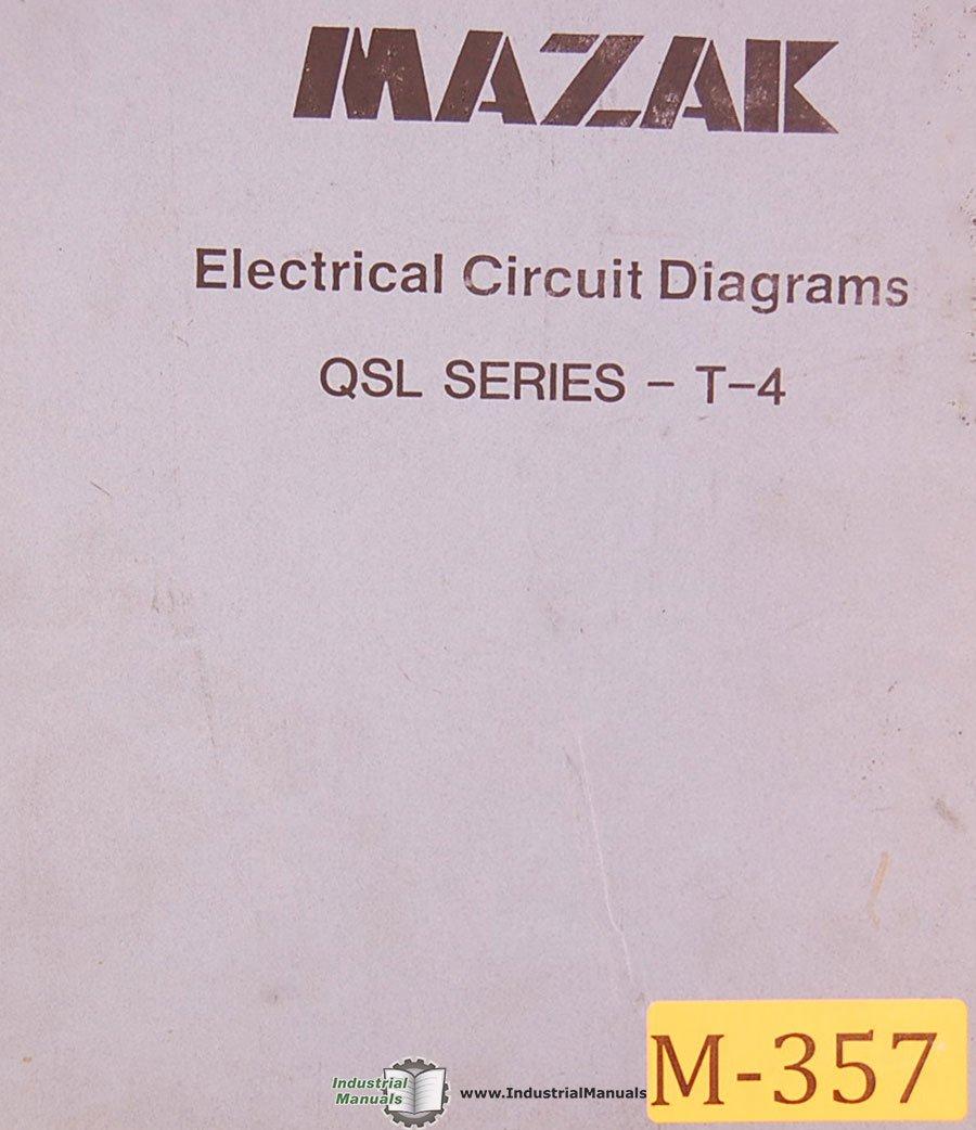Mazak Qsl Series T 4 Electrical Circuit Diagrams Manual Diagram Year Books