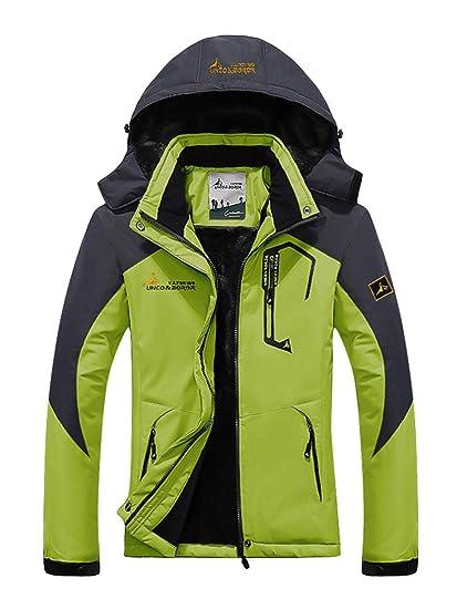 Minetom Chaqueta Softshell Hombre Mujer Chaquetas 3 en 1 Montaña de Invierno Abrigo Impermeable Chaqueta de Acampada y Senderismo Verde 02 ES 42: Amazon.es: ...