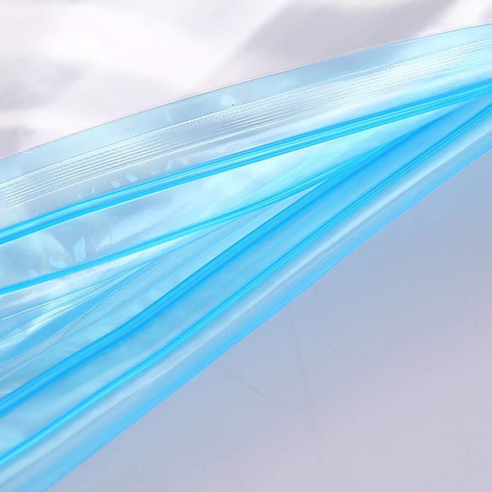 Bolsa de vac/ío 6/piezas Juego de alta calidad sello cerrar bolsas de vac/ío bolsa de almacenamiento con cremallera almohada para edredones ropa Viaje Viajes 35x50CM transparente