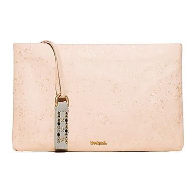 3a1cf27db221e Desigual Tasche Frauen Macau Metallic Splatter Ros U Rosa  Amazon.de ...