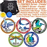 AquaFlight Premium Disc Golf Starter Set (5 Discs + Bag - Floats in Water!)