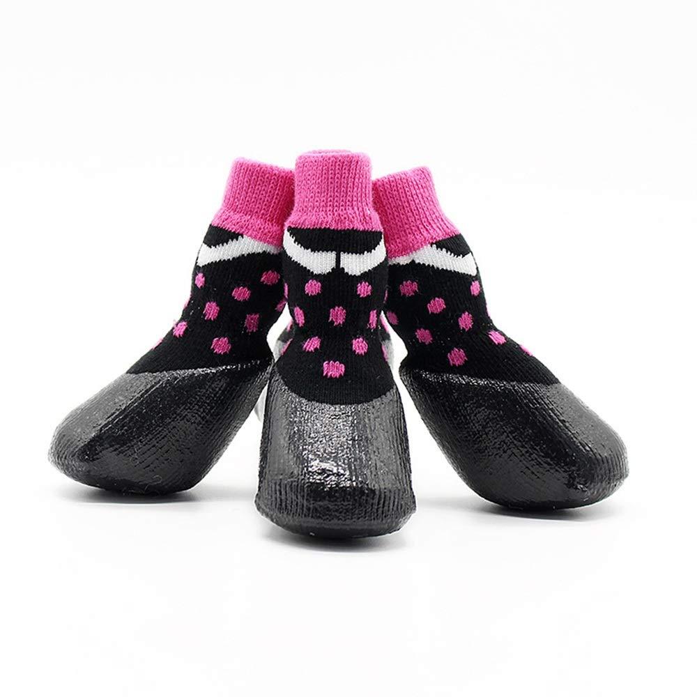 Pink 3  Pink 3  Huayue Pet Non-Slip Raincoat Socks Dog Socks Dog Feet Set Pet Cat Socks (color   Pink, Size   3 )