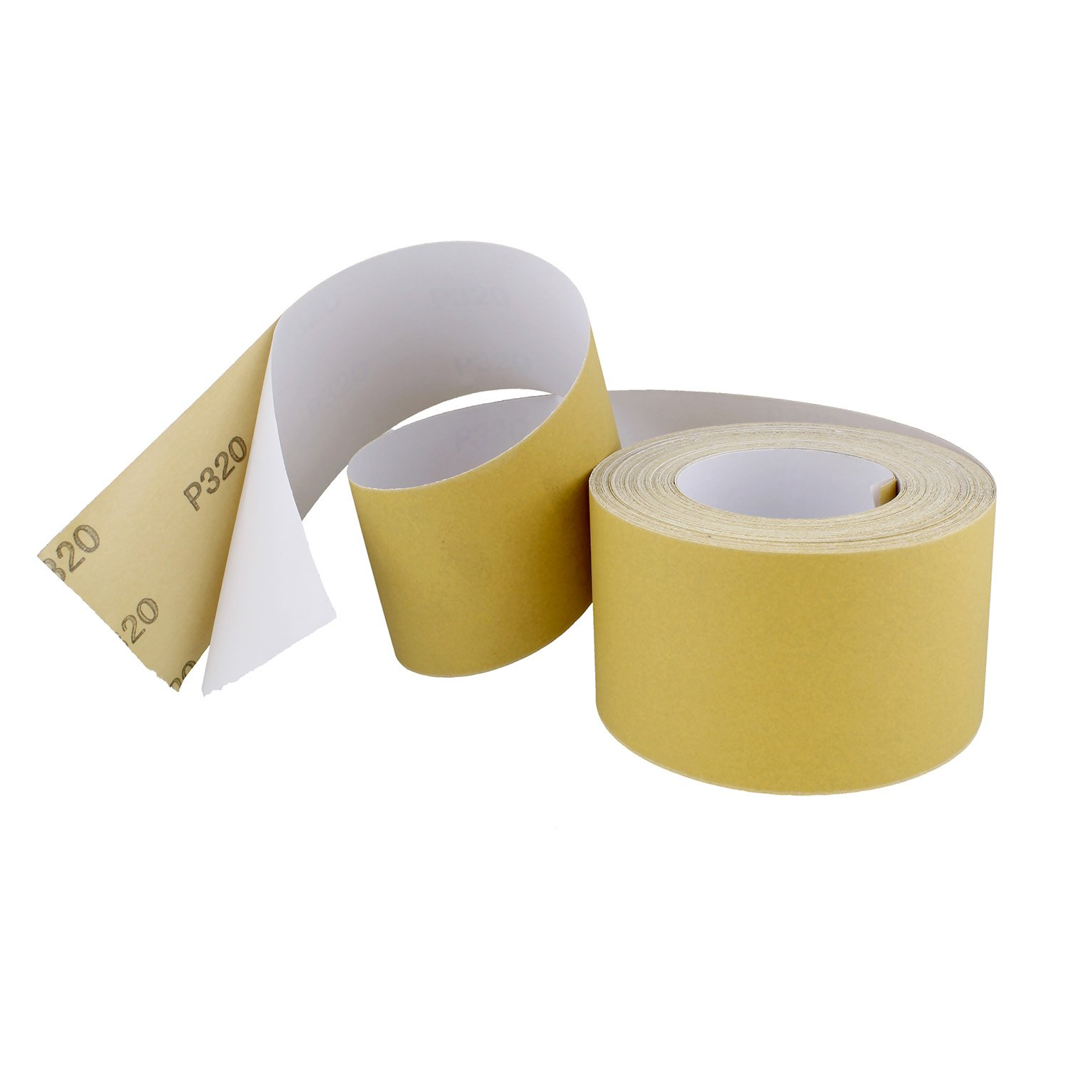 """ABN Adhesive Sticky Back 80-Grit Sandpaper Roll 2-3//4/"""" Inch x 20 Yards Aluminum Oxide Golden Yellow Longboard Dura PSA"""
