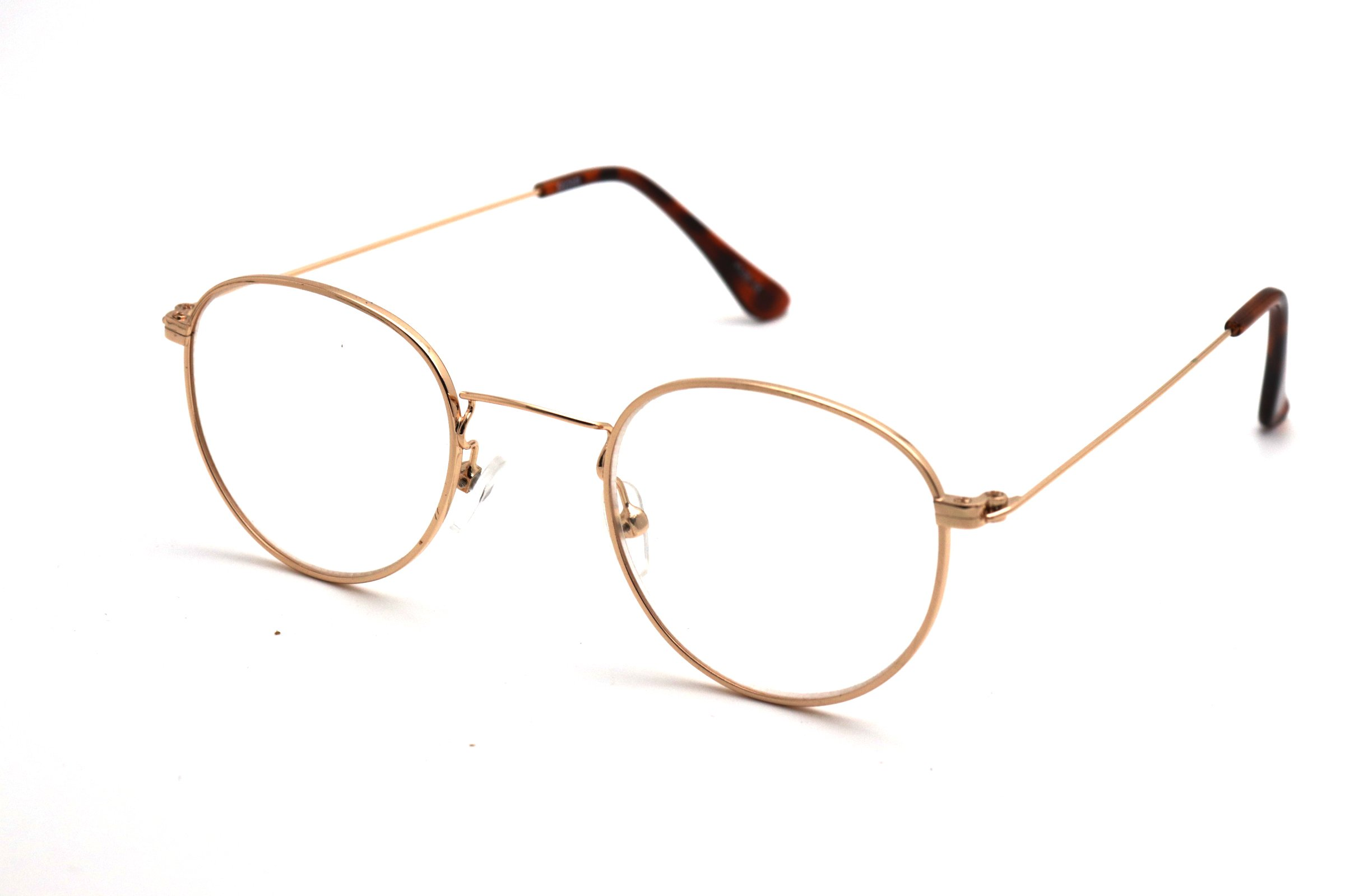 ColorViper READING reader Vintage Hippie Retro Metal or plastic Round Circle Flat Lens (Z2 Gold, 2.75)