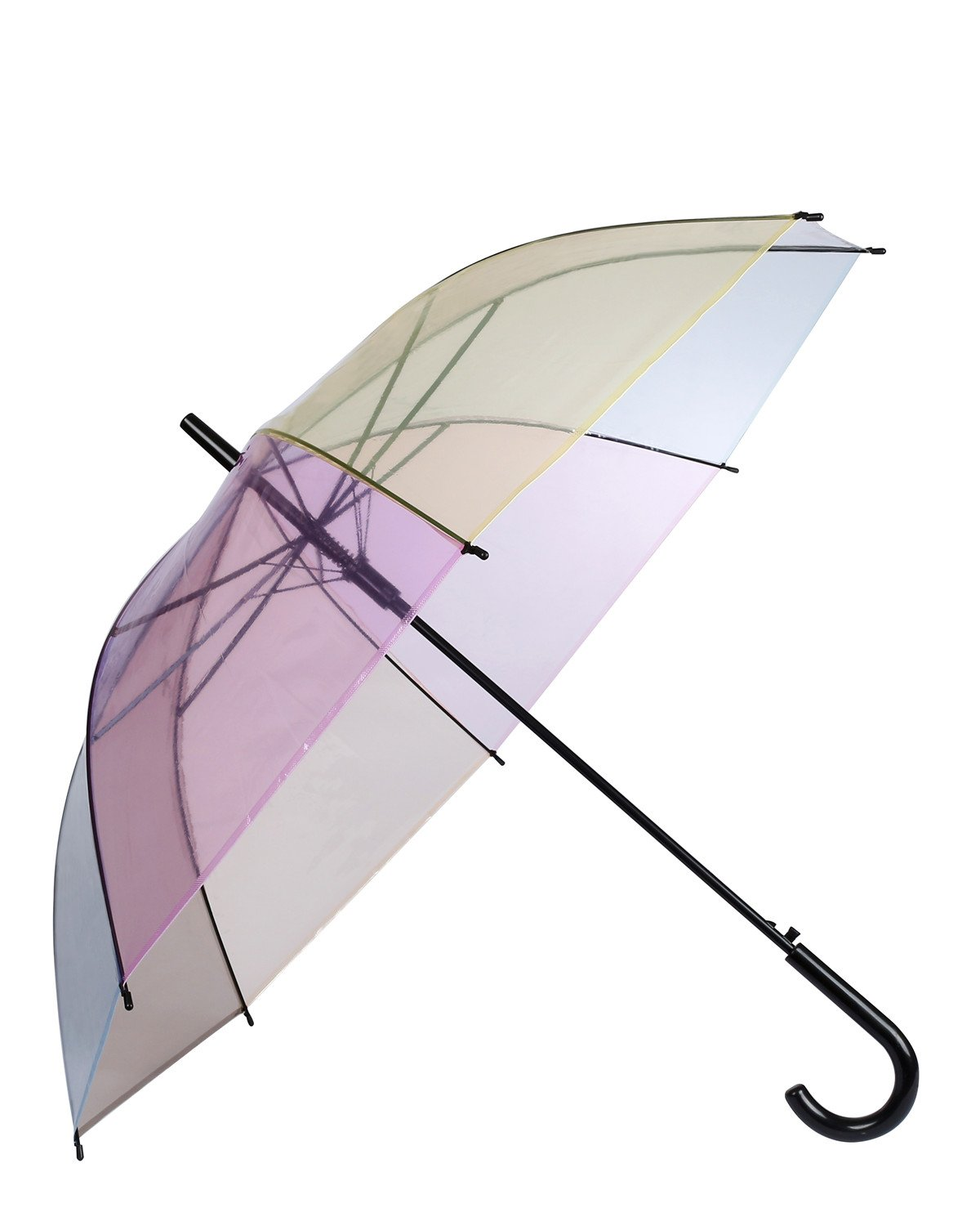 Caeser Archy Transparent Umbrella Large Clear Umbrella Waterproof Stick Umbrellas in Multi Colors for Women