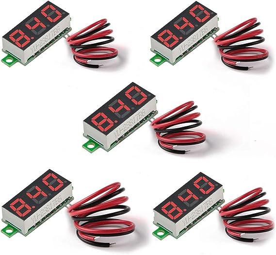 Details about  /DC 5V-120V Digital Voltmeter LED Display Panel 2 Wire Volt Voltage Test Meter