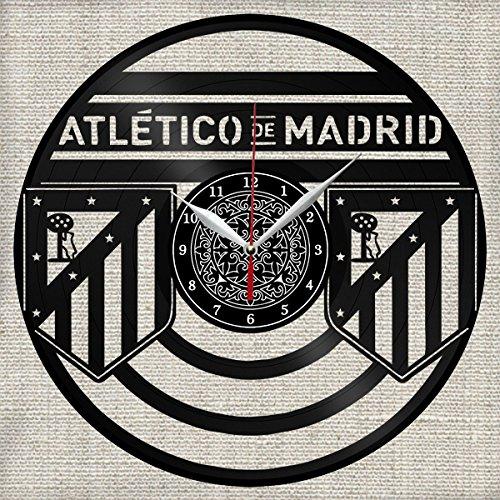 Vinyl Clock Atlético Madrid - Reloj de Pared, Diseño de árbol de Navidad, Hecho a Mano, Regalo Original: Amazon.es: Hogar