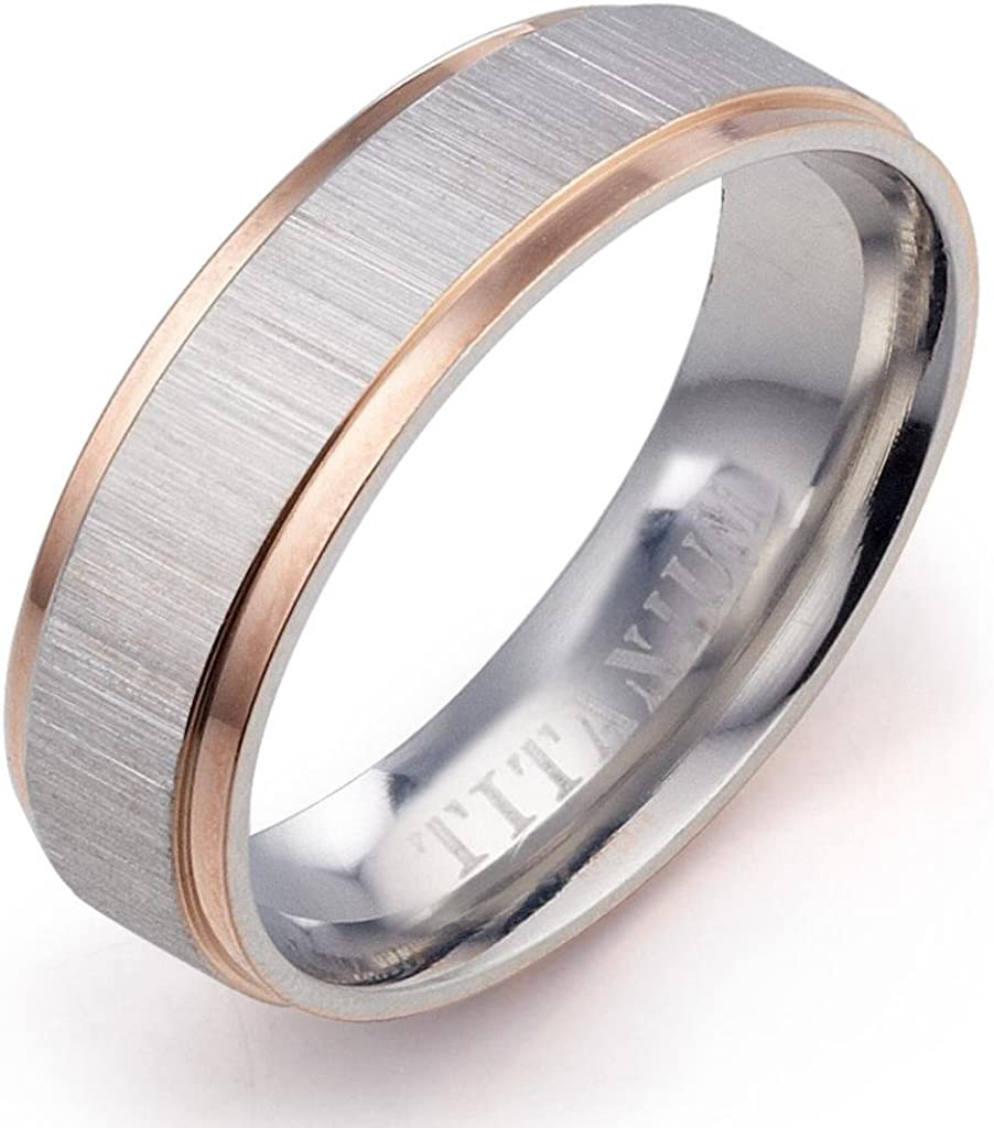 Gemini Custom His Her Muti Tone Rose Gold Silver Couple Promise Anniversary Wedding Ring Valentine Gift