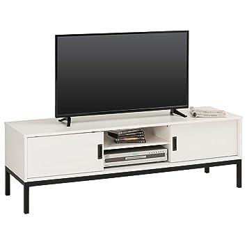 IDIMEX Meuble TV Selma Banc télé de 145 cm au Style Industriel Design  Vintage avec 2 4f77a0e4d738