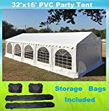 DELTA Canopies 32'x16′ PVC Party Tent – Heavy Duty Wedding Canopy Gazebo Carport – with Storage Bags Review